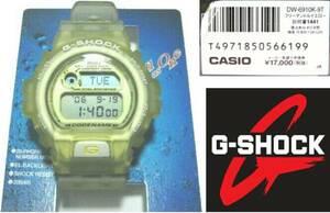 デッドストック1997年製 CASIO イルクジ DW-6910K-9T フリーマントルイエロー カシオ G-SHOCK 第6回国際イルカ・クジラ会議 Gショック