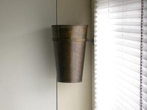 umbrella stand - brass - metal atelier wall storage furniture Vintage Germany