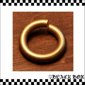 solid brass ソリッドブラス 真鍮 無垢 生地 マルカン 丸環 レザークラフト キーホルダー 4mm×15mm 極太マルカン