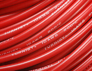 AquaPC★激安Pure-Silicone Wire 10AWG (1mtr) RED★