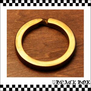 Brass ソリッド ブラス 真鍮 無垢 生地 平2重マルカン 丸環 キーリング キーホルダー 22mm レザークラフト ウォレットチェーン 金具 パーツ