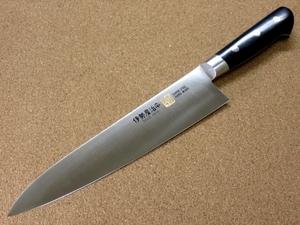 関の刃物 牛刀 21cm (210mm) 伊勢屋治平 モリブデン マイカルタ 口金付き 家庭用の洋包丁 肉 魚 野菜切り パン切り 両刃万能包丁 日本製