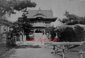 複製復刻 絵葉書/古写真 東京 亀戸天神 楼門と太鼓橋 明治期