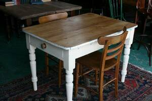 イギリスアンティーク家具 キッチンテーブル デスク オールドパイン/テーブル テーブル 英国製 D85a