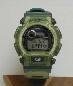 レア 希少 CASIO G-SHOCK DW-9000 Xtreme スケルトン 緑 青