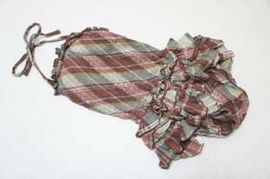 ●水着 F●日本製*お洋服素材綿*フリフリ段フリルスカート水着
