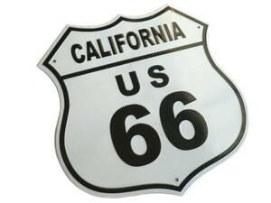 * route 66 road sign /R66 plate / equipment ornament design / California, interior, America miscellaneous goods, North America, Harley