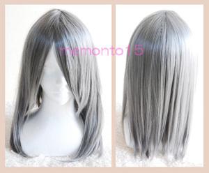 シルバー 銀 耐熱 ミディアム ウィッグ ユーリ!!! on ICE ヴィクトル コスプレ衣装 コスプレウィッグの商品画像