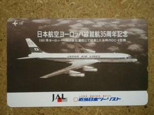 hi/GU1・日本航空 JAL 近畿日本ツーリスト テレカ