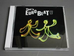 CD/That's EUROBEAT Vol.27ザッツ・ユーロビート
