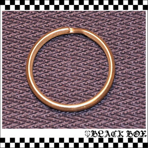 Brass 真鍮 無垢 生地 ソリッド ブラス キーリング キーホルダー 2重マルカン 特大 33mm レザークラフト ウォレットチェーン パーツ 日本製
