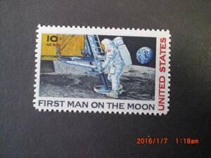 月面初上陸-アームストロング 1種完 未使用 1969年 アメリカ合衆国 VF/NH