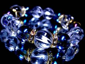 Tornado Crystal 14 mm 12 mm § Blue Aura 12 Milion Rondel