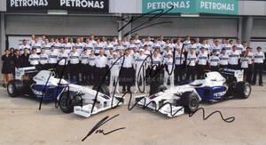 Spa Grand Prix 2009年 F1GP チームBMW ザウバー ロバート・クビサ ウィリー・ランプ ニック・ハイドフェルド サインフォト