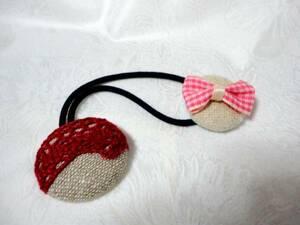 New Handmade Care Button Hair Rubber 1