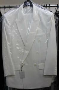 [アオキ特価■白色スーツ・コレクション■貴重品■在庫僅か■有名ブランド■日本製■白色■ダブルスーツ■サイズ■XS~3L][定価49464円]