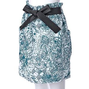 ¥5478→新品*ピーチジョン PEACH JOHN ジャリンコ JARINKO*ダイナー 制服みたいな風景柄スカート/ホワイト白 グリーン 緑 S~Mサイズ