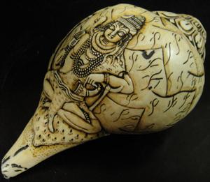 ◆チベット密教法具 法螺貝(シャンカ)シバ神