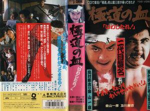 11179【VHS】東映 極道の血いわしたれ/二代目襲名 金山一彦