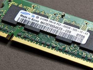 PC5300 / 512MB / SO-DIMM < used >