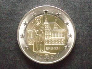 ドイツ 2ユーロ記念 2010年 市庁舎 J 未使用