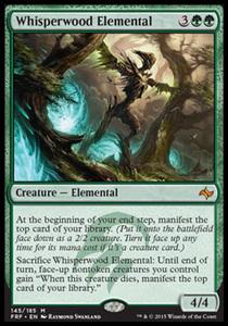 え緑 囁きの森の精霊/Whisperwood Elemental 1枚(4枚在庫s 英/MTG