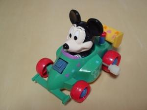 アンティーク ゼンマイ式 DISNEY ミッキーマウス レーシングカー