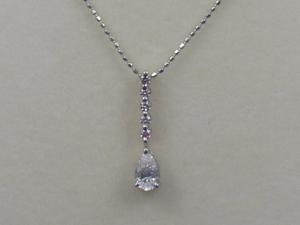 K18WGホワイトゴールド ダイヤモンド/ピンクダイヤモンド ペンダントネックレス 0.46ct 0.10ct 4159