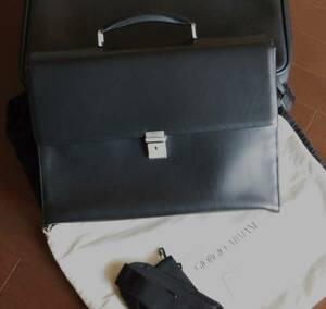 GIORGIO ARMANI ビジネス鞄【本物確約】あのジョルジォ・アルマーニ