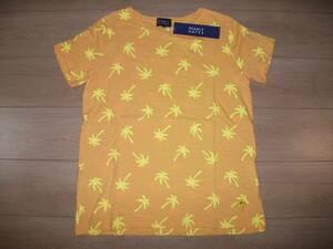 お値下げ!!カタログ掲載商品♪PEARLYGATESパーリーゲイツ☆ヤシの木柄半袖Tシャツサイズ1オレンジ色