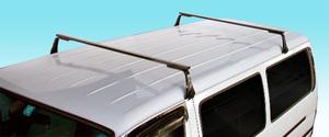 2本バータイプ ルーフキャリア TOYOTA ハイエースバン/レジアスエースバン 100系 標準/ロング 長尺物,回転灯等に