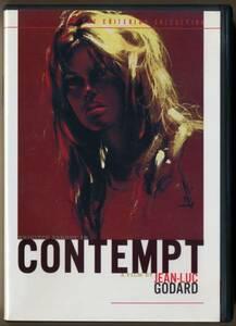 中古DVD 2枚組 ジャン=リュック・ゴダール 軽蔑 Contempt クライテリオン2枚組 ブリジット・バルドー ミシェル・ピコリ 特典映像多数