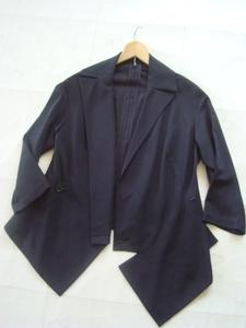 Yohji Yamamoto 春夏ブラックジャケット size2 ヨウジヤマモト