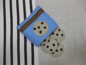 ハンドメイド フェルトままごと チョコチップクッキー