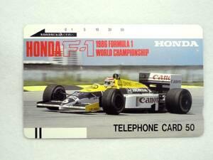 テレフォンカード 未使用 50度 『 F-1 1986年ウィリアムズ 』 送料別¥210 ゆうパケットおてがる版