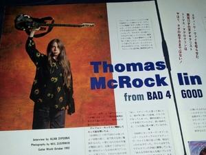 Thomas.McRocklinトーマスマクロクリン★雑誌player1992よりインタビュー記事★BAD4GOOD