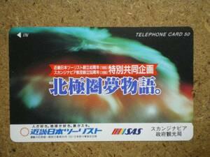 hi/CR7・航空 スカンジナビア航空 近畿日本ツーリスト テレカ