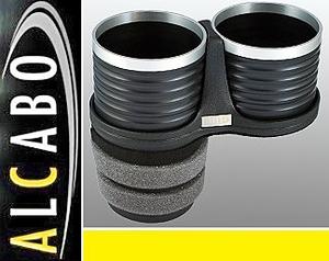 【M's】VW UP! アップ(2012y-)ALCABO 高級 ドリンクホルダー(ブラック+リング)//リア用 アルカボ カップホルダー AL-T119BS ALT119BS