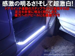●白60センチLEDチューブライト 防水 12V車用 5センチごとにカット可能!3M両面テープ付 バイク アンダーネオン 室内灯 ドアランプに