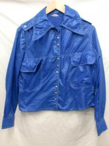 【210405】【レディース】SearsレディースナイロンJKTブルー☆USAオールド70'sXS
