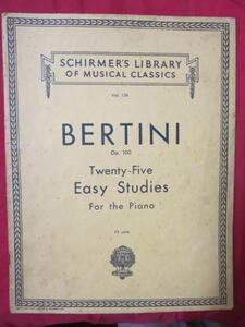 ♪◆ベルティーニ OP.100 楽譜