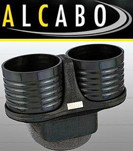 【M's】VW ポロ 6R 5代目(2009y-)ALCABO ドリンクホルダー(ブラック)//※アームレスト仕様車用 高級 アルカボ カップホルダー AL-T116B