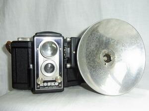 珍品1945年代~ROSKO BRILLIANT 620 MODEL2 MADEINJAPAN 日本製2眼レフカメラ精度は解りませんがシャッタ-切れますます
