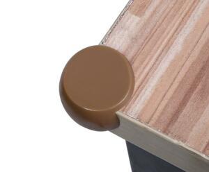ケガ防止 コーナーカバー 8個セット 透明 赤ちゃん コーナーガード テーブル ベビー ベッド 柱の角 小物入れ付属 新品 (丸型, 茶色)