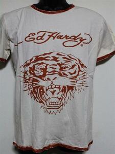 エドハーディー ED HARDY メンズ半袖Tシャツ Sサイズ PR091 新品