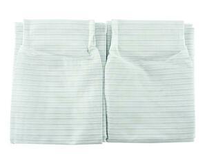 A926■訳あり レースカーテン遮熱 UVカット 2枚 幅100x238cm ボーダー ミントグリーン