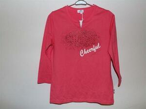 パシフィックコースト PACIFIC COAST レディース7分Tシャツ Mサイズ ピンク 新品