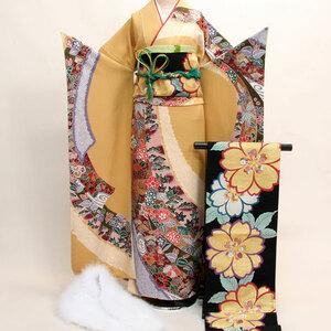 振袖フルセット 正絹 着物 百花繚乱 7日間レンタル(株)安田屋 NO141