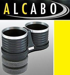【M's】VW ニュービートル(1998y-2010y)//ポロ 6R 5代目 リア用(2009y-)アルカボ 高級 ドリンクホルダー(BK+リング)//ALCABO AL-B109BS