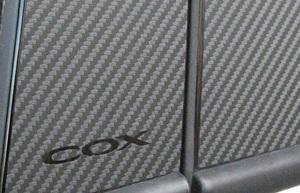 VW ゴルフ6/H.Back ブラックカーボン・ピラーパネル 4PCS【COX/コックス製】新品/GOLF6/